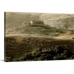 Large Solid-Faced Canvas Print Wall Art Print 30 x 20 entitled Late afternoon in Tuscany