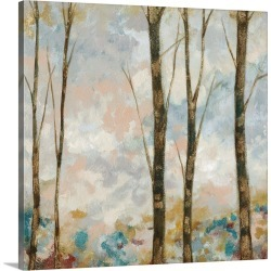 Large Solid-Faced Canvas Print Wall Art Print 20 x 20 entitled Aural Arbor II