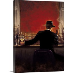 Large Solid-Faced Canvas Print Wall Art Print 30 x 40 entitled Cigar Bar