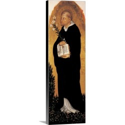 Large Solid-Faced Canvas Print Wall Art Print 12 x 36 entitled Saint Dominic