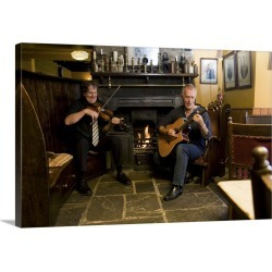 Large Gallery-Wrapped Canvas Wall Art Print 24 x 16 entitled Chuck Fleming and Gerry Caley traditional folk musicians play... found on Bargain Bro India from Great Big Canvas - Dynamic for $214.99