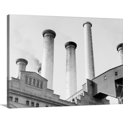 Large Gallery-Wrapped Canvas Wall Art Print 24 x 18 entitled Edison Power Plant On East River found on Bargain Bro India from Great Big Canvas - Dynamic for $224.99