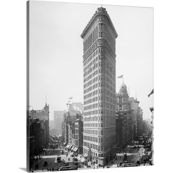 Large Gallery-Wrapped Canvas Wall Art Print 19 x 24 entitled The Flatiron Building in New York City, 1903