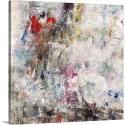 Large Gallery-Wrapped Canvas Wall Art Print 16 x 16 entitled Erratic Entertainment