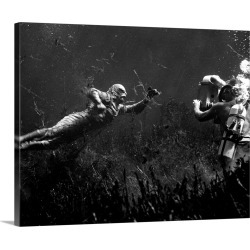 Large Solid-Faced Canvas Print Wall Art Print 30 x 24 entitled Creature From the Black Lagoon - Production Still