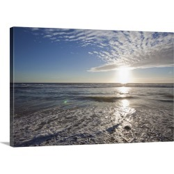 Large Solid-Faced Canvas Print Wall Art Print 30 x 20 entitled Seascape of a beach in Los Angeles, California