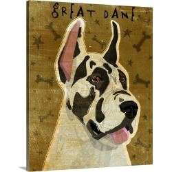 Large Gallery-Wrapped Canvas Wall Art Print 16 x 20 entitled Harlequin Great Dane
