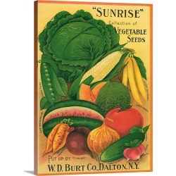 Large Solid-Faced Canvas Print Wall Art Print 30 x 40 entitled Vintage Produce Sign V found on Bargain Bro Philippines from Great Big Canvas - Dynamic for $274.99
