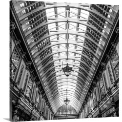 Large Solid-Faced Canvas Print Wall Art Print 20 x 20 entitled Leadenhall Market, City Of London, London, England, UK