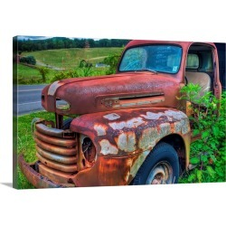 Large Gallery-Wrapped Canvas Wall Art Print 24 x 16 entitled '49 Ford Truck found on Bargain Bro India from Great Big Canvas - Dynamic for $214.99