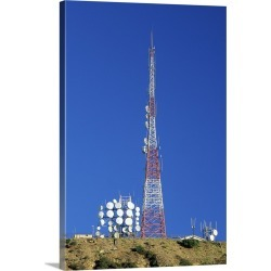 Large Gallery-Wrapped Canvas Wall Art Print 16 x 24 entitled TV/radio antenna and relay dishes, California found on Bargain Bro India from Great Big Canvas - Dynamic for $214.99