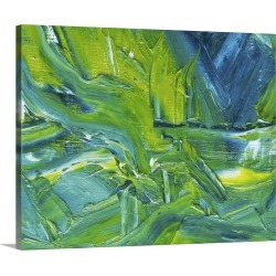 Large Gallery-Wrapped Canvas Wall Art Print 20 x 16 entitled Oil Painting in Green, Blue and White Colors, Front View found on Bargain Bro India from Great Big Canvas - Dynamic for $189.99