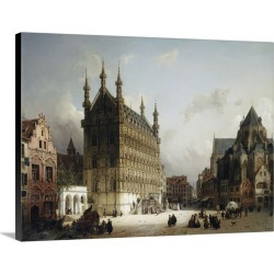 Large Solid-Faced Canvas Print Wall Art Print 40 x 30 entitled The Town Hall, Louvain, Belgium by Michael Neher found on Bargain Bro India from Great Big Canvas - Dynamic for $274.99