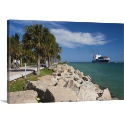 Large Gallery-Wrapped Canvas Wall Art Print 24 x 16 entitled Miami Beach, FL, South Beach, ship found on Bargain Bro India from Great Big Canvas - Dynamic for $214.99