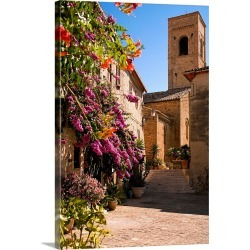 Large Solid-Faced Canvas Print Wall Art Print 20 x 30 entitled Italy, Marches, Torre di Palme, Ascoli Piceno district