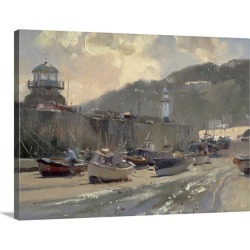 Large Gallery-Wrapped Canvas Wall Art Print 24 x 17 entitled Harbour Light, St. Ives found on Bargain Bro India from Great Big Canvas - Dynamic for $179.99
