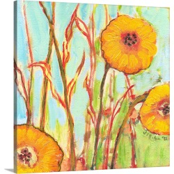 Large Solid-Faced Canvas Print Wall Art Print 20 x 20 entitled A Garden View