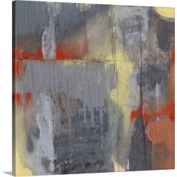 Large Solid-Faced Canvas Print Wall Art Print 20 x 20 entitled Fire Brand II