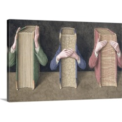Large Gallery-Wrapped Canvas Wall Art Print 21 x 12 entitled Three Wise Books, 2005 found on Bargain Bro India from Great Big Canvas - Dynamic for $149.99