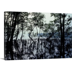 Large Gallery-Wrapped Canvas Wall Art Print 30 x 20 entitled Lake Of Two Mountains, Senneville, Montreal, Quebec, Canada