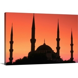 Large Gallery-Wrapped Canvas Wall Art Print 24 x 16 entitled Mosque, Turkey, Istanbul, Middle East found on Bargain Bro India from Great Big Canvas - Dynamic for $234.99