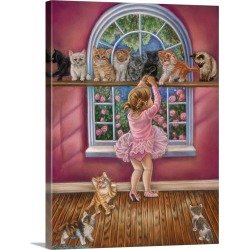 Large Solid-Faced Canvas Print Wall Art Print 30 x 40 entitled Dance Class