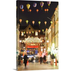 Large Solid-Faced Canvas Print Wall Art Print 20 x 30 entitled UK, England, London, Chinatown