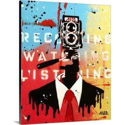 Large Solid-Faced Canvas Print Wall Art Print 24 x 30 entitled NSA Camera Man