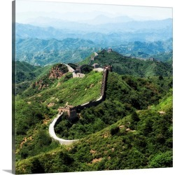 Large Solid-Faced Canvas Print Wall Art Print 20 x 20 entitled Great Wall of China found on Bargain Bro India from Great Big Canvas - Dynamic for $129.99