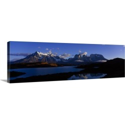 Large Solid-Faced Canvas Print Wall Art Print 48 x 16 entitled Chile, Patagonia, Torres Del Paine