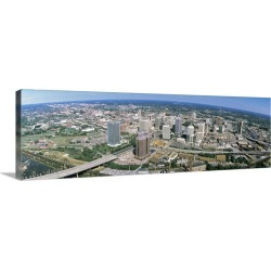 Large Solid-Faced Canvas Print Wall Art Print 48 x 16 entitled Aerial Richmond VA