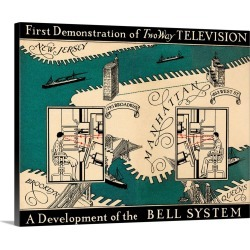 Large Gallery-Wrapped Canvas Wall Art Print 20 x 16 entitled Early video phone system, 1930 found on Bargain Bro India from Great Big Canvas - Dynamic for $189.99