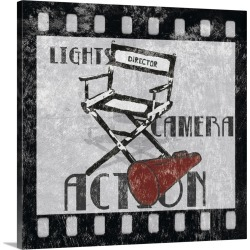 Large Gallery-Wrapped Canvas Wall Art Print 20 x 20 entitled Lights Camera Action