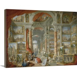 Large Gallery-Wrapped Canvas Wall Art Print 24 x 18 entitled Picture Gallery With Views Of Modern Rome By Giovanni Paolo P... found on Bargain Bro India from Great Big Canvas - Dynamic for $234.99
