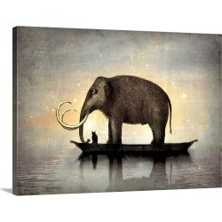 Large Gallery-Wrapped Canvas Wall Art Print 30 x 23 entitled Silent night found on Bargain Bro India from Great Big Canvas - Dynamic for $219.99
