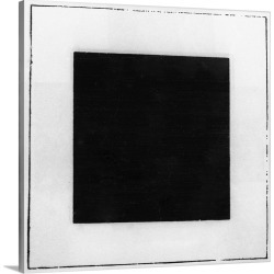 Large Solid-Faced Canvas Print Wall Art Print 20 x 20 entitled Black Square