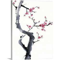 Large Gallery-Wrapped Canvas Wall Art Print 18 x 24 entitled Plum Blossom Branch I found on Bargain Bro India from Great Big Canvas - Dynamic for $224.99