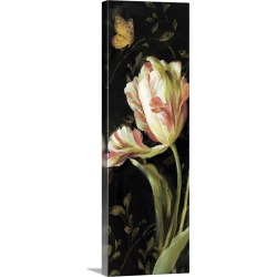 Large Solid-Faced Canvas Print Wall Art Print 16 x 48 entitled Jardin Paris Florals II