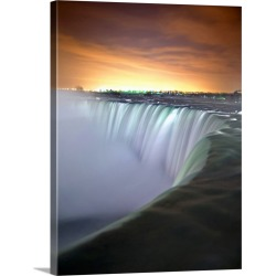 Large Solid-Faced Canvas Print Wall Art Print 30 x 40 entitled Niagara falls in the early morning.