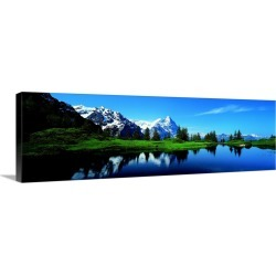 Large Gallery-Wrapped Canvas Wall Art Print 36 x 12 entitled Eiger Grindelwald Switzerland
