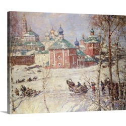 Large Solid-Faced Canvas Print Wall Art Print 30 x 24 entitled The Kremlin, Moscow, Russia, In Winter By Frederick William...