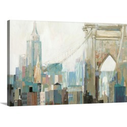 Large Gallery-Wrapped Canvas Wall Art Print 24 x 16 entitled City Life I found on Bargain Bro India from Great Big Canvas - Dynamic for $169.99