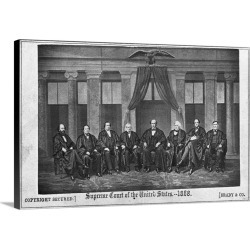 Large Solid-Faced Canvas Print Wall Art Print 30 x 20 entitled Supreme Court Of The United States By Brady