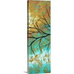 Large Solid-Faced Canvas Print Wall Art Print 12 x 36 entitled Golden Fascination II