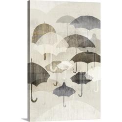 Large Solid-Faced Canvas Print Wall Art Print 20 x 30 entitled Umbrella Rain II