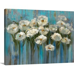 Large Solid-Faced Canvas Print Wall Art Print 40 x 30 entitled Anemones by the Lake