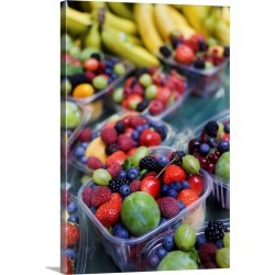 Large Solid-Faced Canvas Print Wall Art Print 20 x 30 entitled UK, England, London, Fruit stall