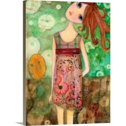 Large Solid-Faced Canvas Print Wall Art Print 30 x 40 entitled Big Eyed Girl Up