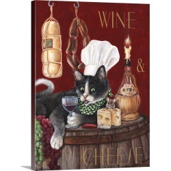 Large Gallery-Wrapped Canvas Wall Art Print 18 x 24 entitled Wine And Cheese found on Bargain Bro India from Great Big Canvas - Dynamic for $234.99