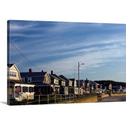 Large Solid-Faced Canvas Print Wall Art Print 30 x 20 entitled Beach houses, Long Beach, Rockport, Cape Ann, Massachusetts found on Bargain Bro India from Great Big Canvas - Dynamic for $174.99